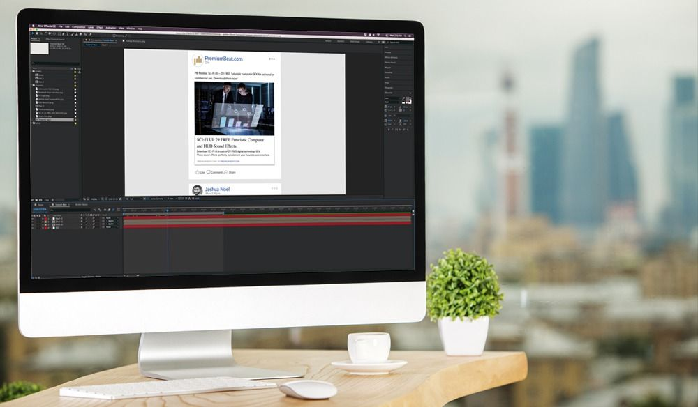 After Effects Facebook UI - 在Adobe After Effects中创建Facebook UI并为其设置动画