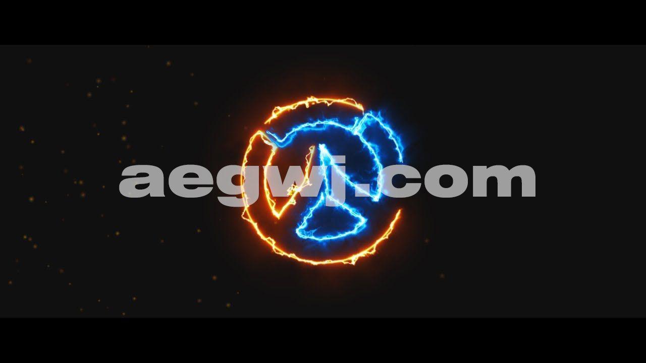 aegwj水印模板 11 - AE中的灯光标志在显露Lighting Logo Reveal in After Effects
