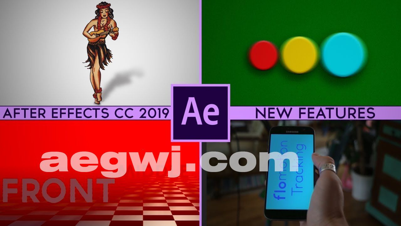 aegwj水印模板 114 - AE2019新功能教程Lynda - After Effects CC 2019 New Features