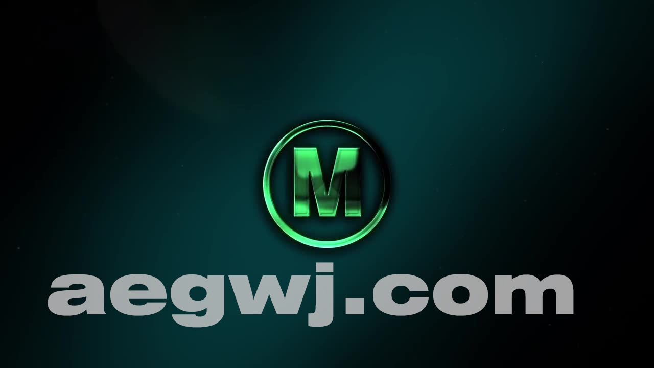 aegwj水印模板 51 - 光泽质感Logo动画AE教程 Glossy Logo Reveal in After Effects