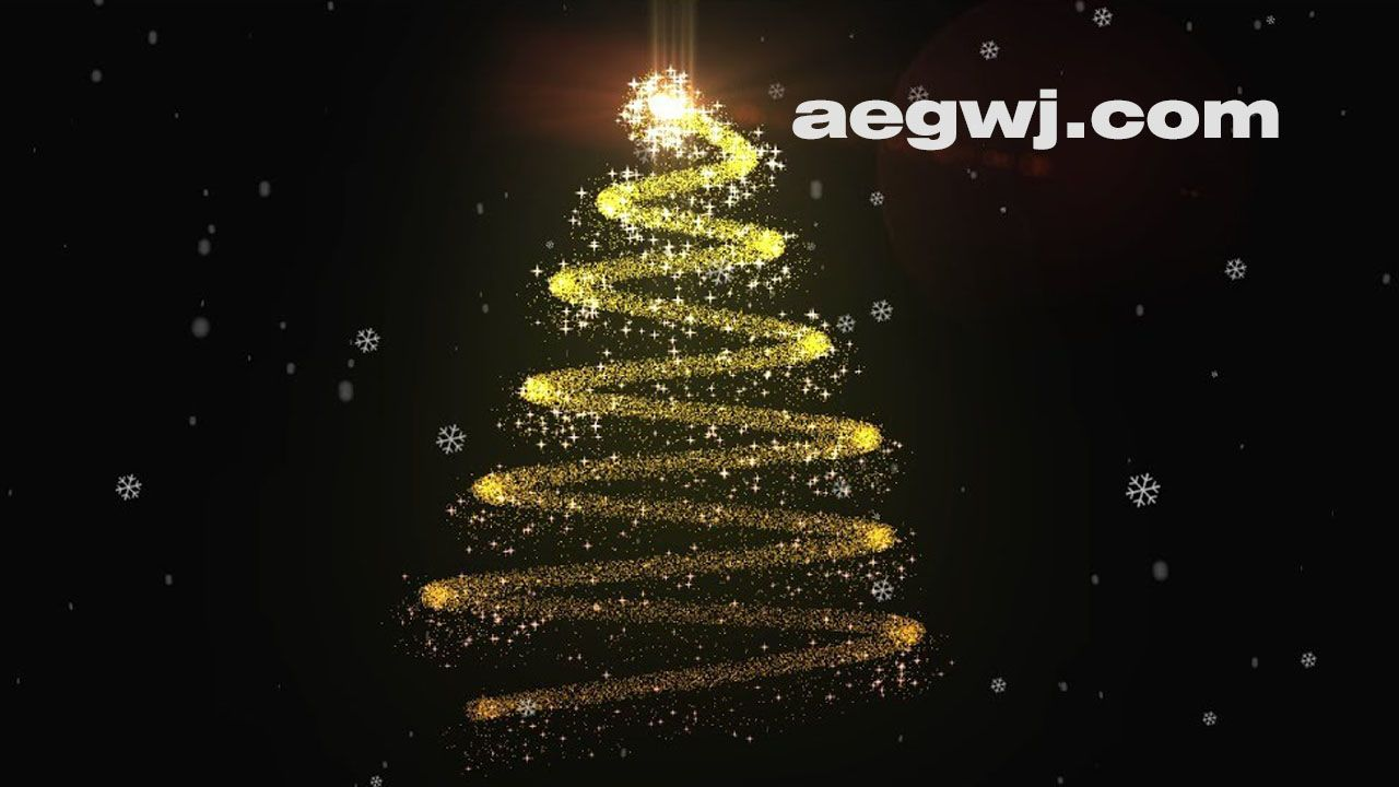 aegwj水印模板 105 - 免圣诞树动画Christmas Tree Animation in After Effects