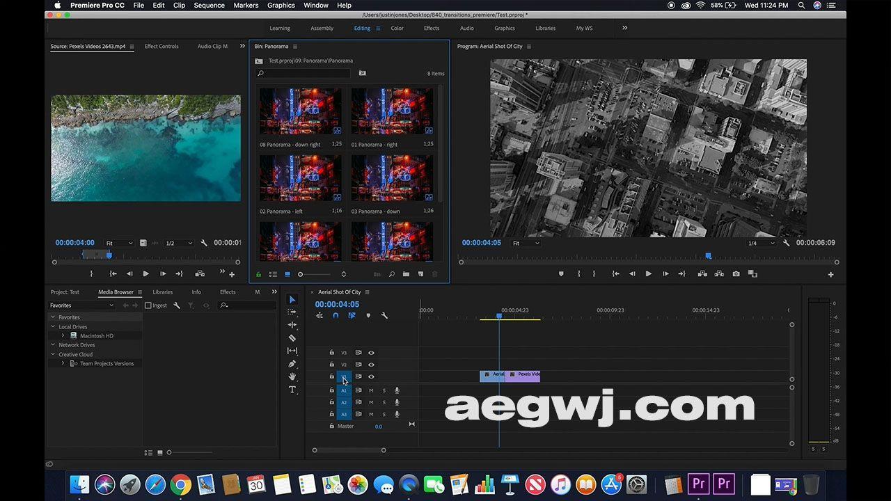 aegwj水印模板 11 - Pr模板-840种扭曲缩放平移变形切割光效旋转无缝视频转场840_transitions