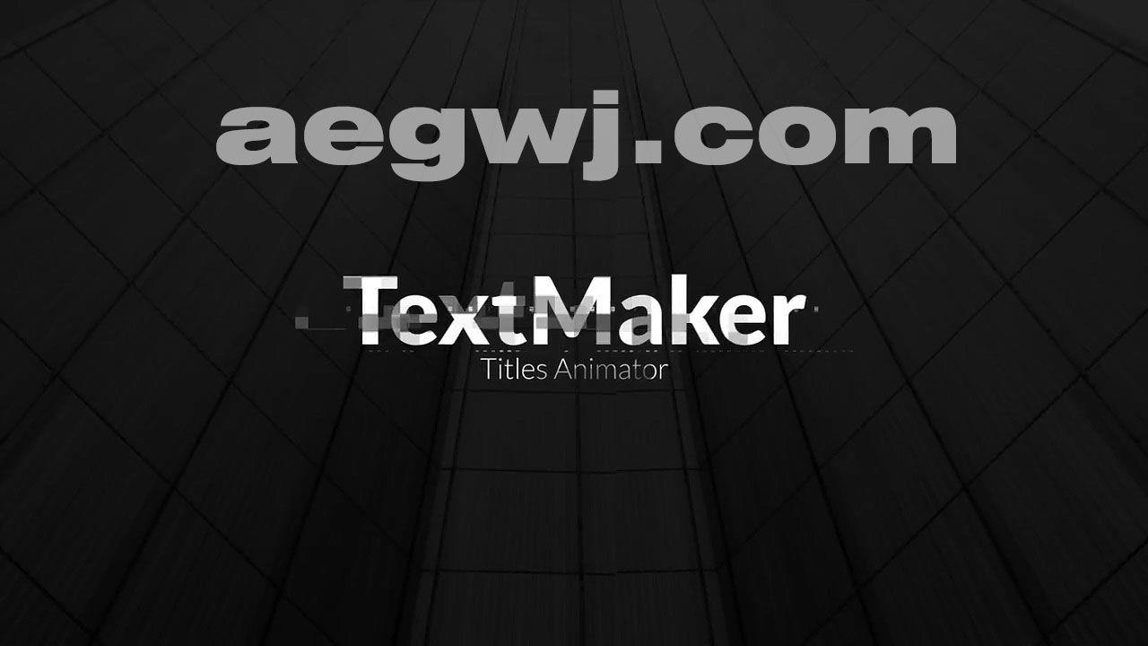 aegwj水印模板 15 - Pr模板-科技感文字标题动画 Titles Animator - Digital Block Edition