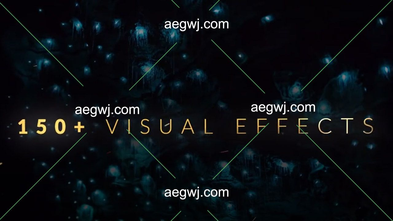 aegwj水印模板 166 - 104个特效合成资源彩带光斑粒子粉尘星火4K分辨率视频素材下载
