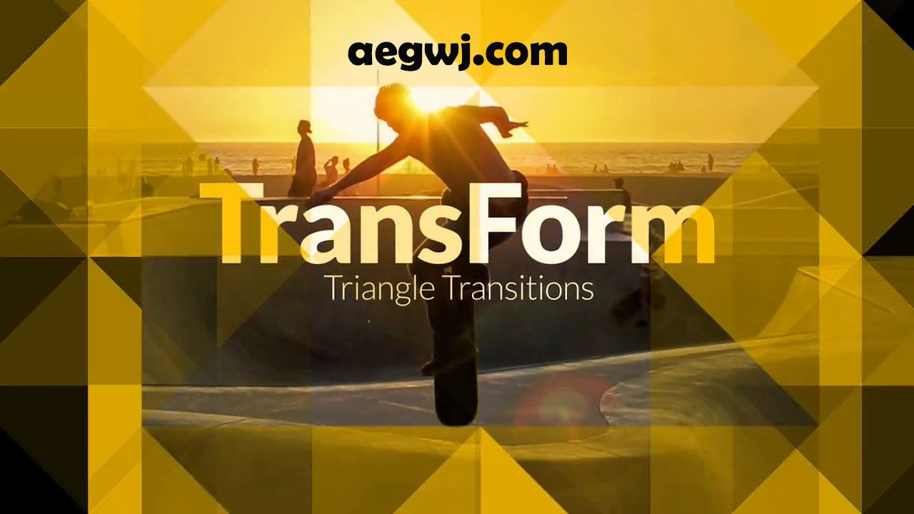 aegwj水印模板 17 - Pr模板-三角形遮罩视频转场 TransForm - Triangle Transitions