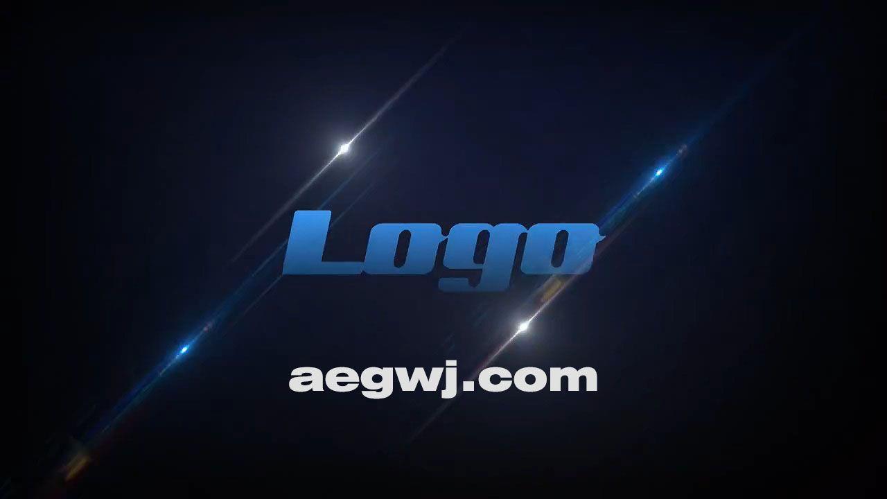 aegwj水印模板 18 - Pr模板-闪光Logo动画 Slice Light Logo