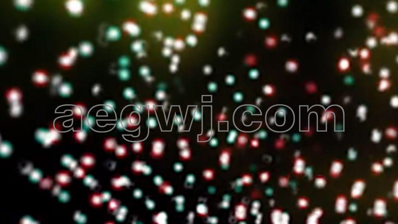 aegwj水印模板 185 - 抽象绚彩升降弹跳灯光粒子DJ节日庆典光效背景素材下载