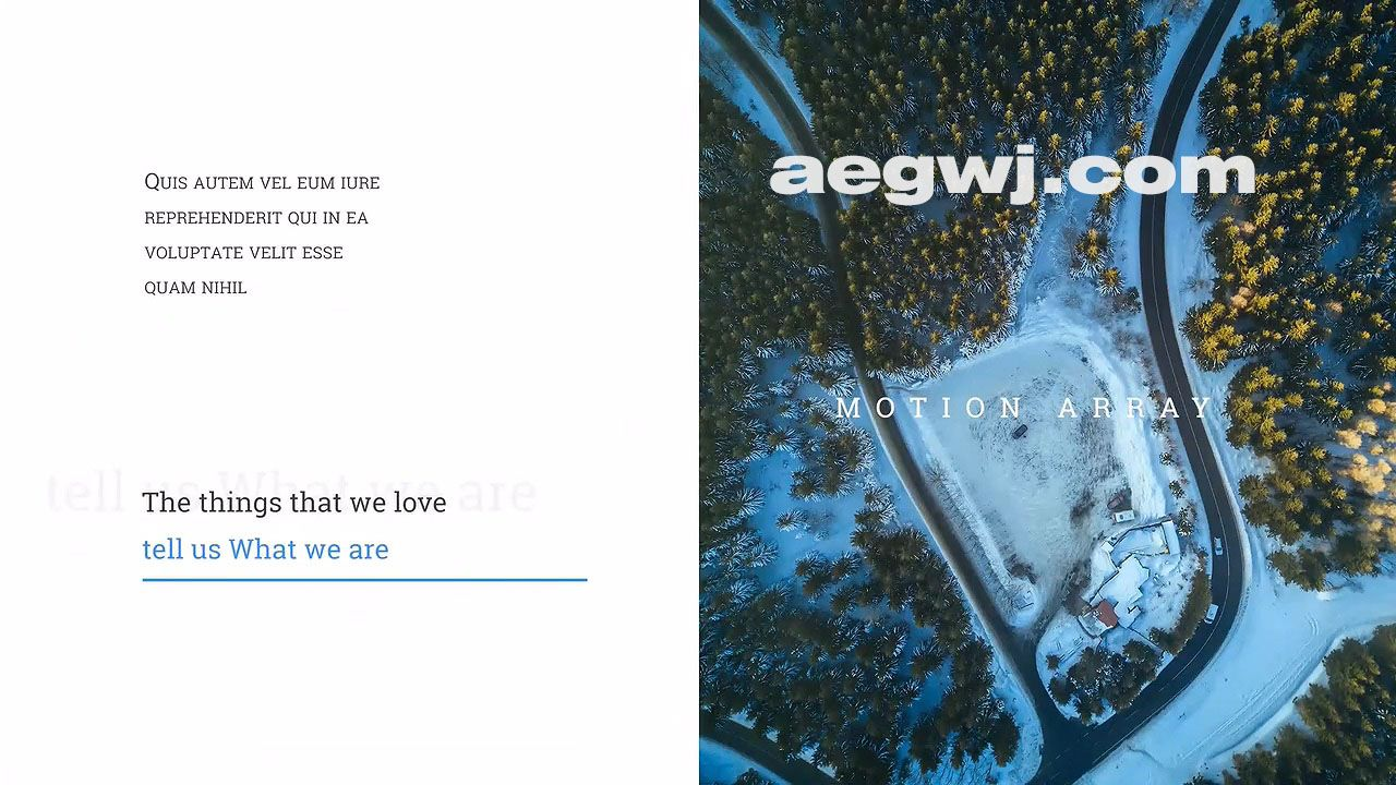 aegwj水印模板 19 - Pr模板-商务幻灯片推拉片头 Dynamic Slideshow