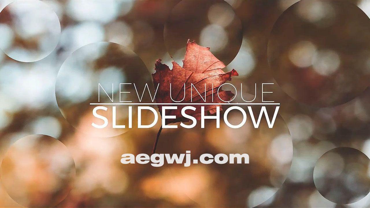 aegwj水印模板 20 - Pr模板-图形切割视差图片开场 Parallax Slideshow Opener