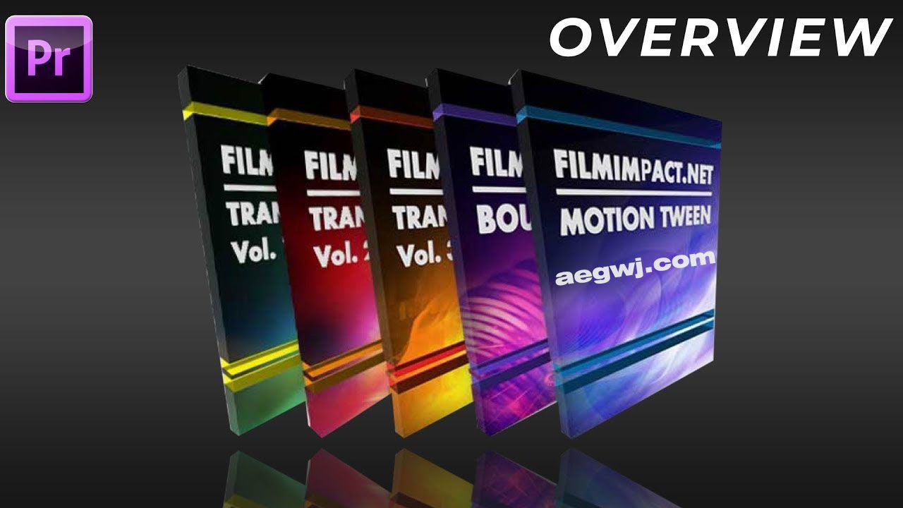aegwj水印模板 25 - PR转场插件 FilmImpact.net Transition Packs V3.6.15 CE