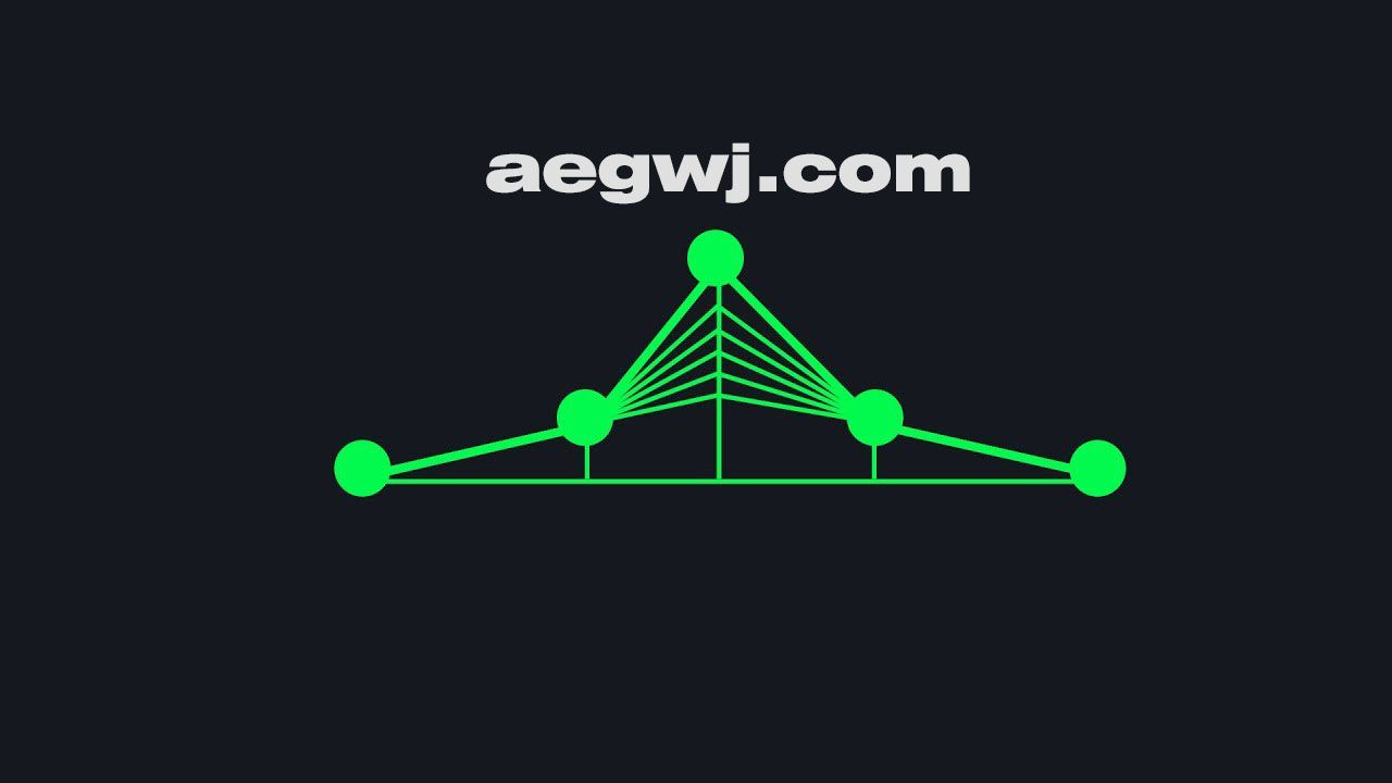 aegwj水印模板 36 - AE有线音频频谱Wired Audio Spectrum in After Effects