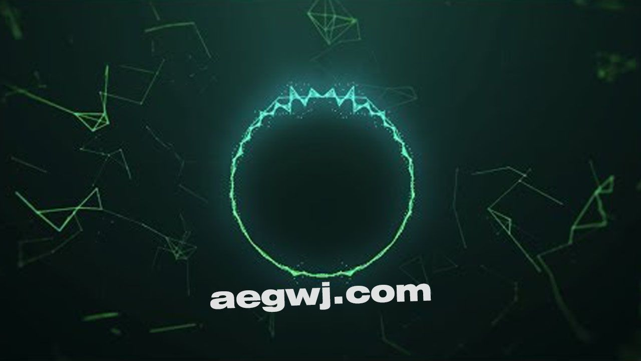 aegwj水印模板 45 - 技术音频可视化Technical Audio Visualizer in After Effects