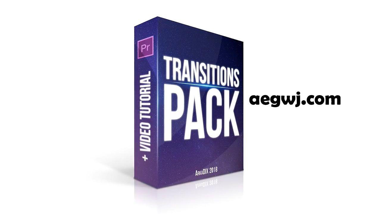 aegwj水印模板 7 - PR模板-19组动态视频转场模板 Transitions Pack