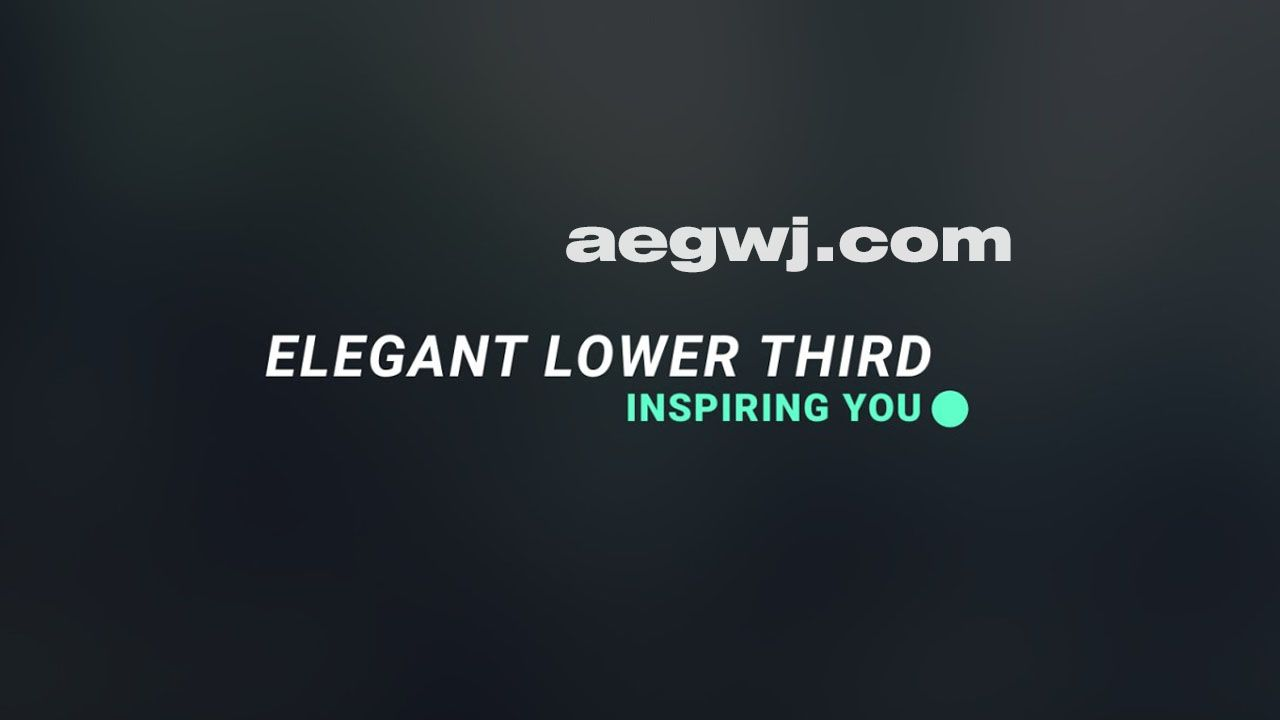 aegwj水印模板 86 - AE制作订阅按钮Lower Third Subscribe Button In After Effects