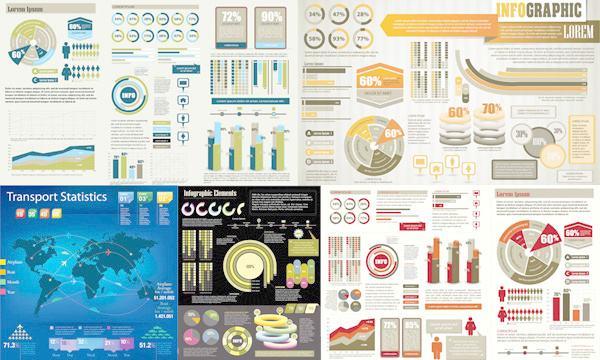 timg - AE模原工程文件公司企业信息数据图标线图地图人物饼图元素动画