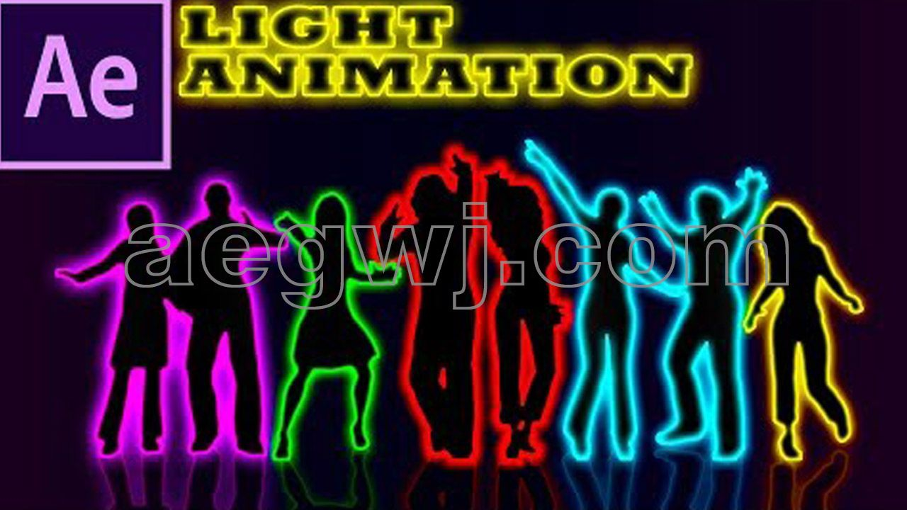 aegwj水印模板 101 - 发光吸墨纸介质Glowing BLOTTER MEDIA in After Effects - After Effects Tutorial - Easy Method