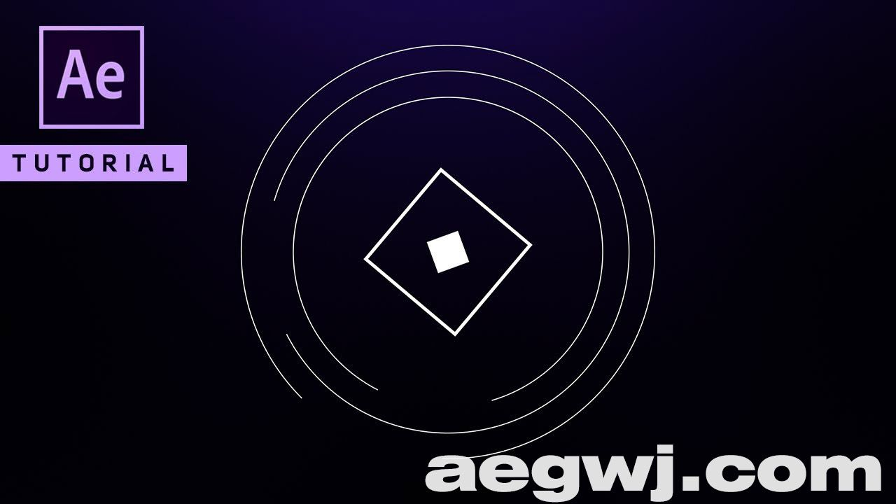 aegwj水印模板 103 - 圆图标动画Circle Logo Animation - After Effects Tutorial (No Plugin)