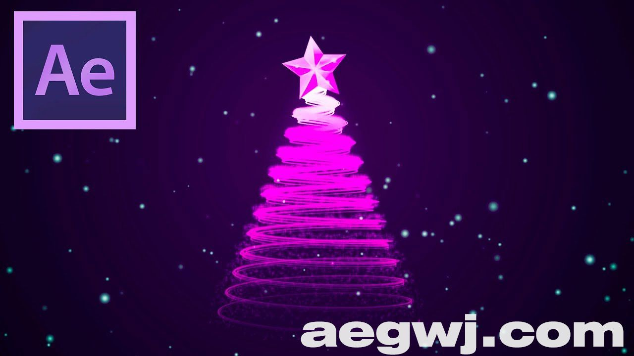 aegwj水印模板 104 - 圣诞树动画Christmas Tree Animation in After Effects - After Effects Tutorial - Easy Method