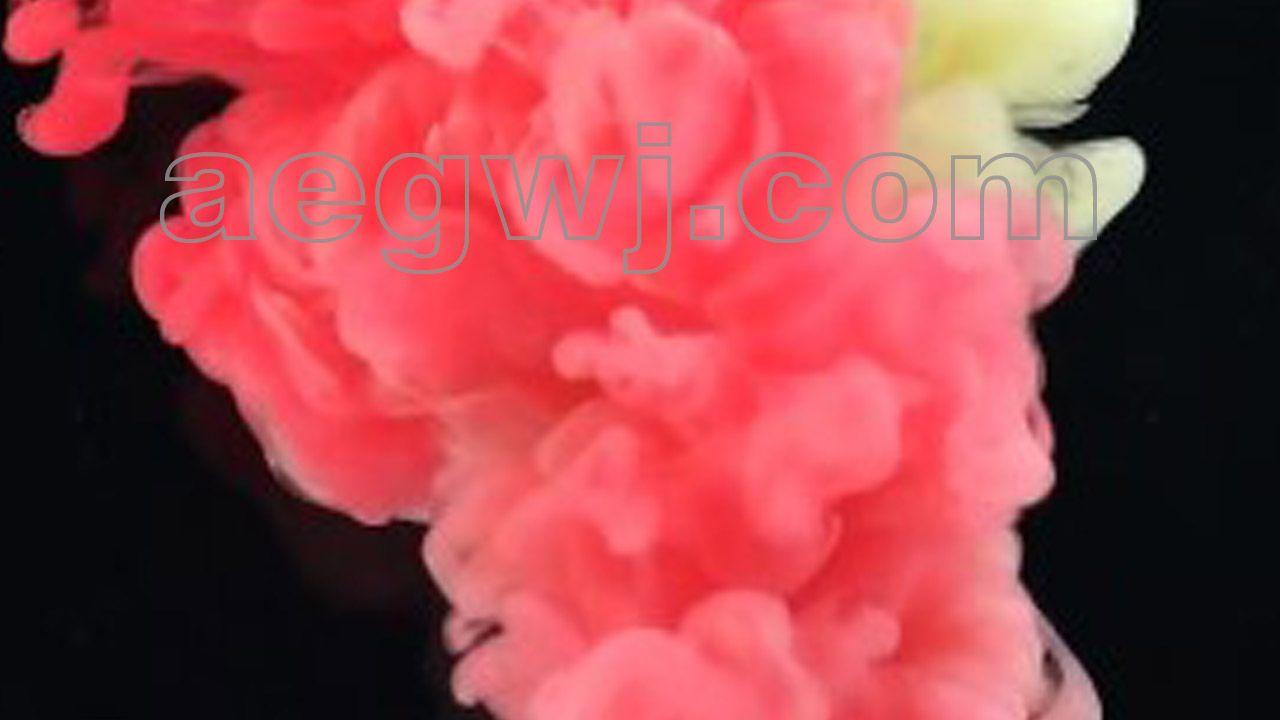 aegwj水印模板 27 - 4K视频素材水墨抽象水彩烟雾下降挥散特效动画可商用