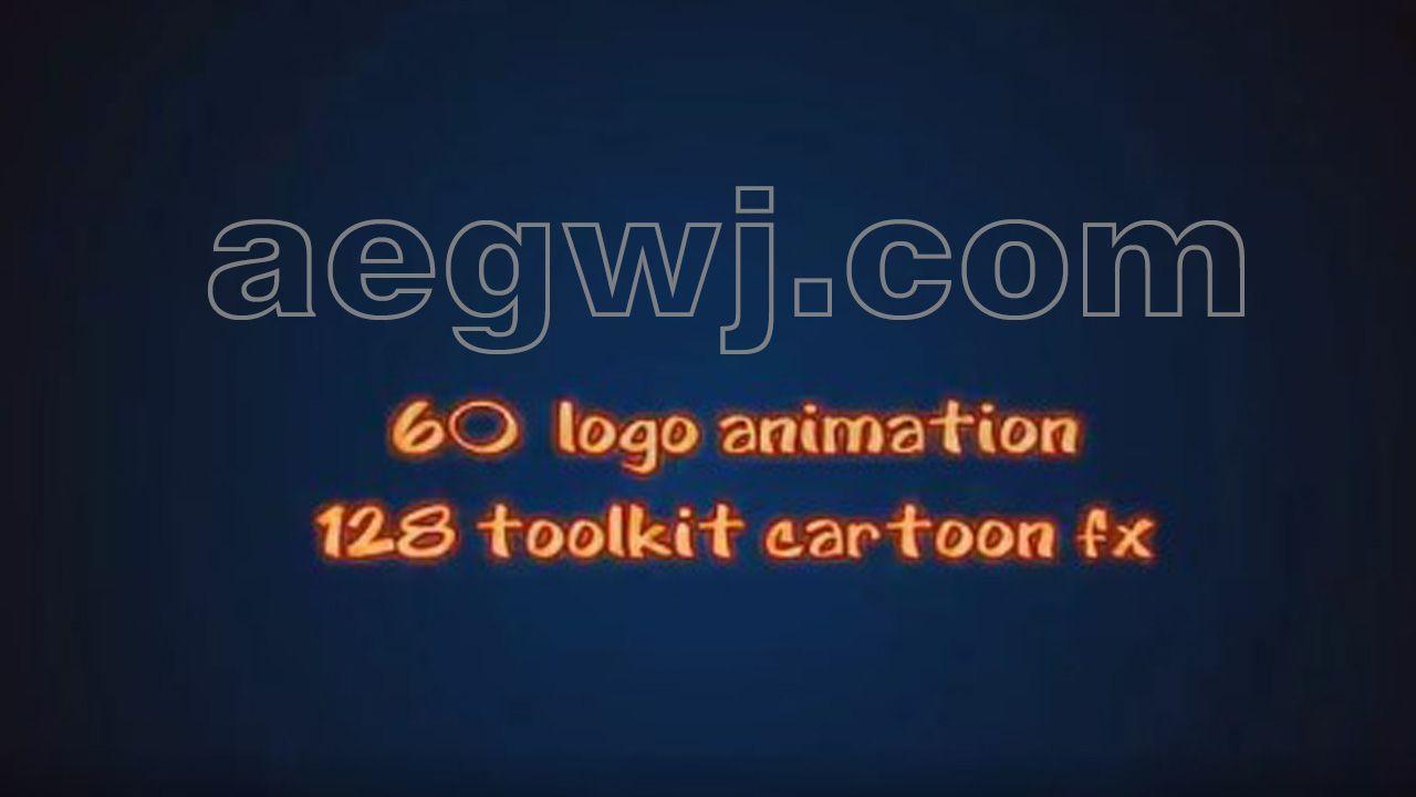 aegwj水印模板 53 - AE模板 60种标志MG动画+128种FX运动图形效果(液体烟花闪光烟雾)