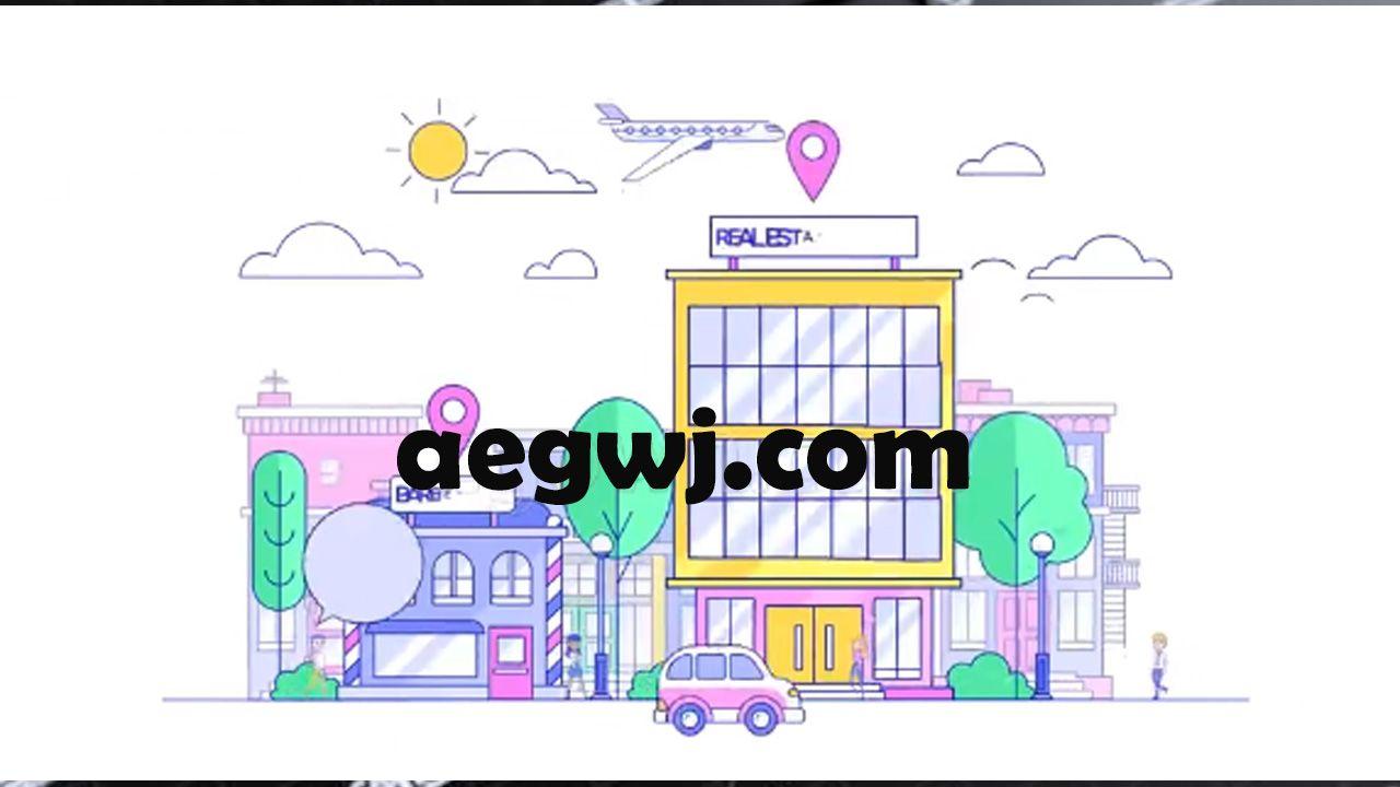 aegwj水印模板 62 - 制作MG动画人物场景元素推广公司服务介绍视频效果AE模板