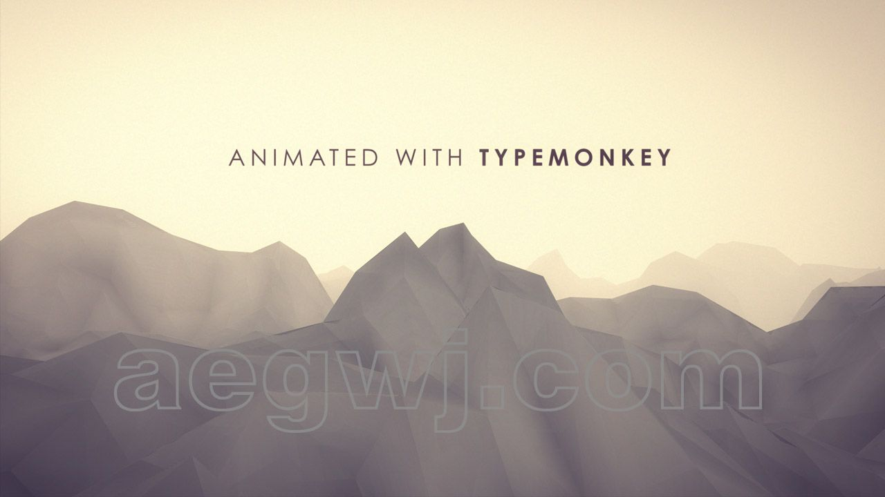 aegwj水印模板 68 - AE TypeMonkey脚本教程 Title Animations With TypeMonkey Script Tutorial