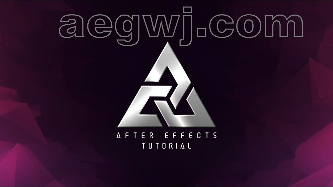 aegwj水印模板 82 - 徽标文本动画Logo  Text Animation in After Effects - After Effects Tutorial - No Third Party Plugin