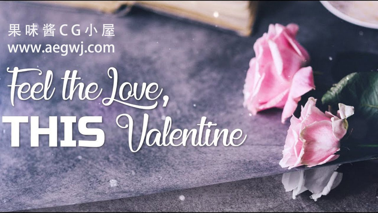 aegwj水印模板 83 - 情人节特别现代幻灯片Valentine Special  Modern Slideshow in After Effects - After effects tutorial  - Free Download