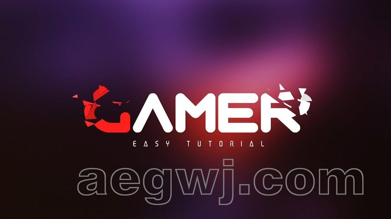 aegwj水印模板 85 - 文本徽标动画After Effects Tutorial - Pixel Polly Text  Logo Animation in After Effects - No Third Party Plugin