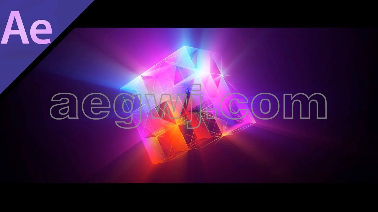aegwj水印模板 89 - 3D盒音频频谱3D BOX Audio SPECTRUM in After Effects - After Effects Tutorial