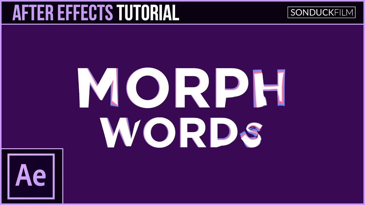 maxresdefault 1 15 - 将单词变形为其他单词After Effects Tutorial MORPH WORDS Into Other Words -  Motion Graphics Transition