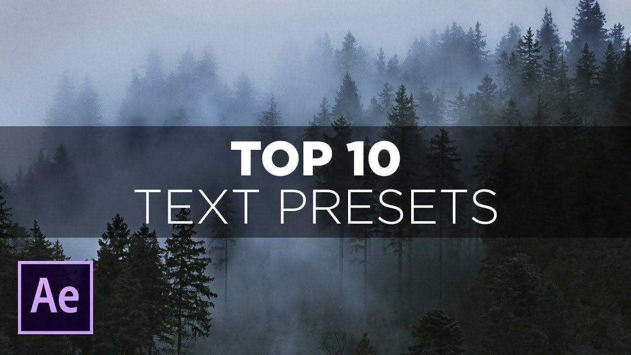 maxresdefault 1 7 - AE中最好用的10个文本预设Top 10 Text Presets in After Effects