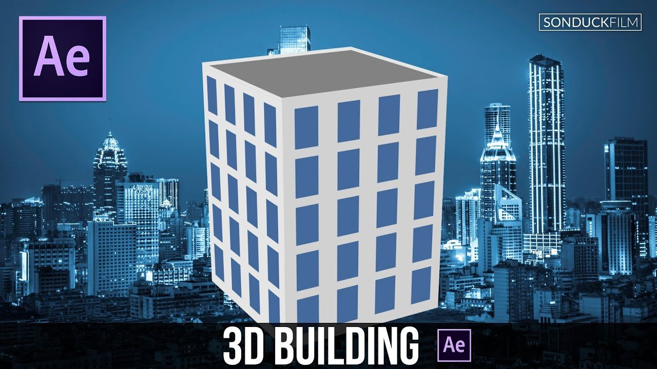maxresdefault 11 13 - 平面三维建筑After Effects Tutorial Flat 3D Building (No Plugins)