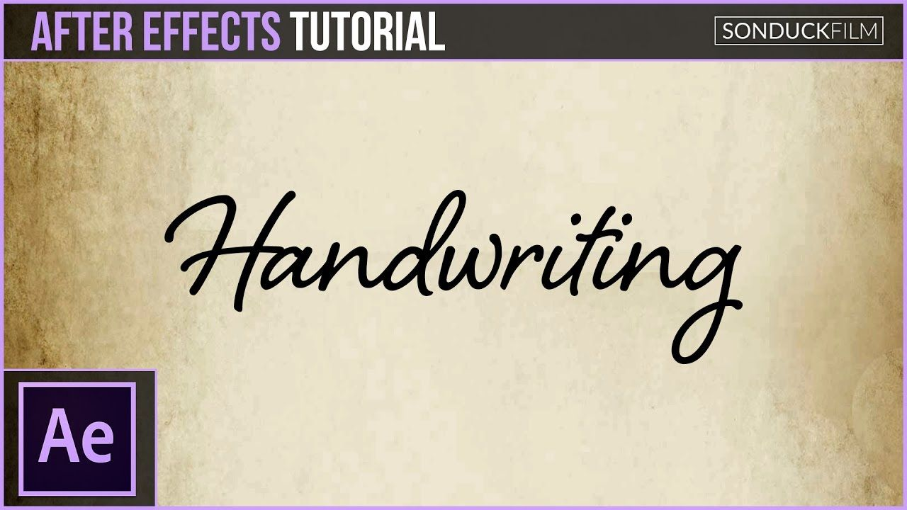 maxresdefault 11 14 - 手写效果动画After Effects Tutorial Handwriting Effect Animation
