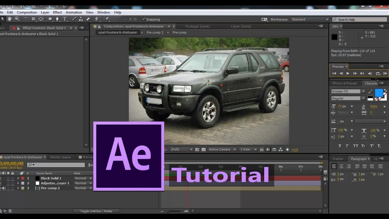 maxresdefault 13 - 打破汽车射击的效果How to break the car shooting Effect   After Effects