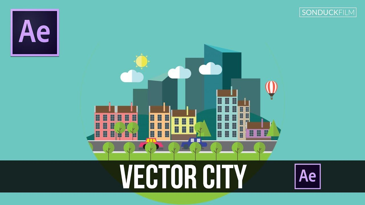maxresdefault 14 9 - 创建一个矢量详细的城市After Effects Tutorial Creating a Detailed City with Vectors