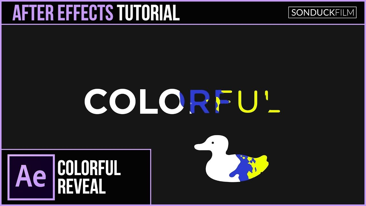 maxresdefault 15 11 - 彩色文字和标志展示After Effects Tutorial COLORFUL Text and Logo Reveal