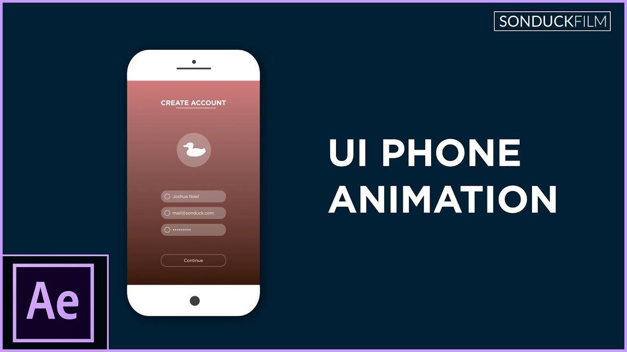 maxresdefault 15 13 - 用户界面手机应用程序动画After Effects Tutorial UI Phone App Animation - Motion Graphics