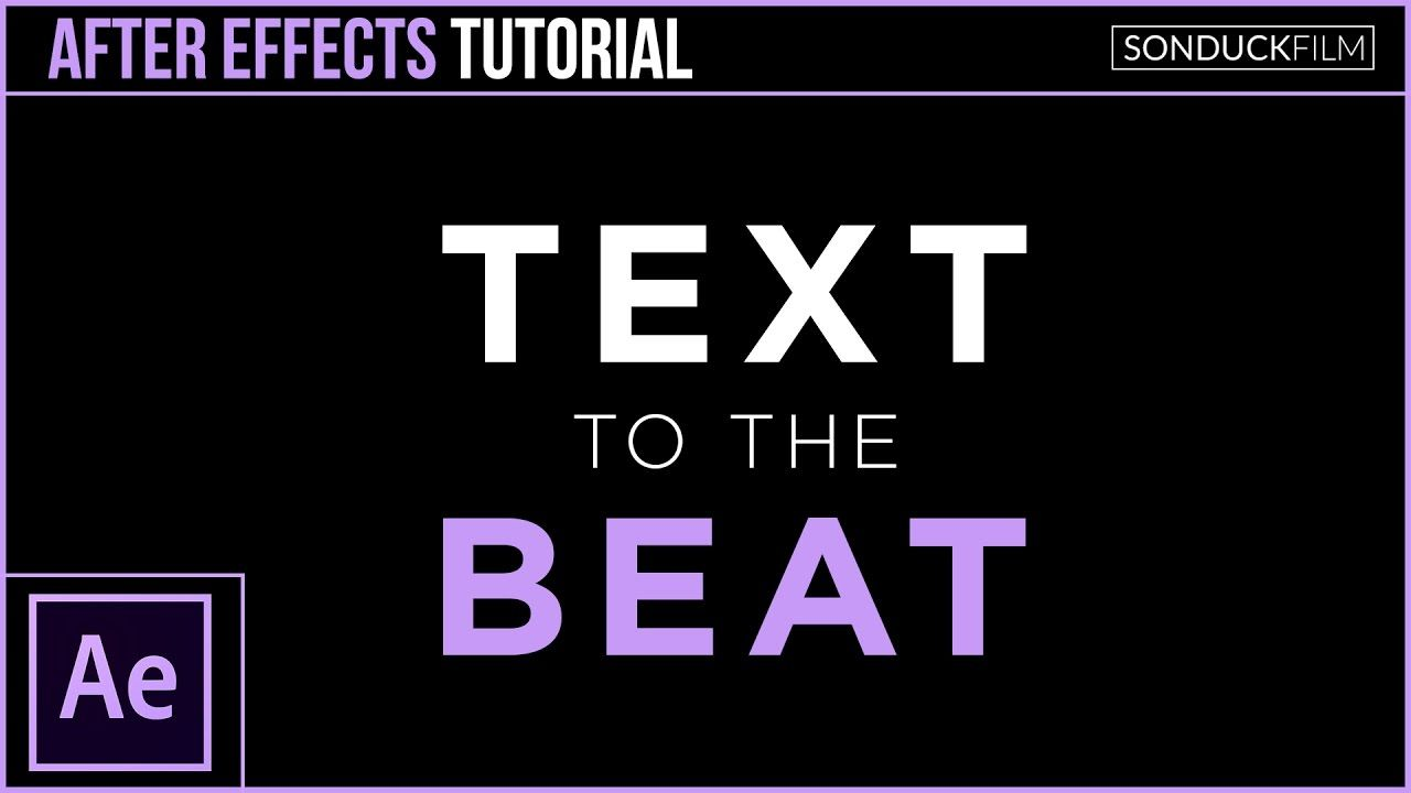 maxresdefault 19 6 - 文字动画与节拍同步效果After Effects Tutorial Sync Text to the Beat