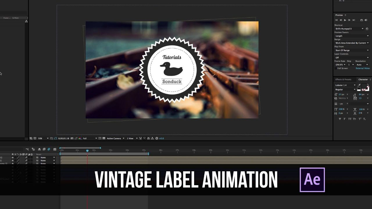 maxresdefault 2 16 - 旧货标签动画Vintage Label Animation After Effects Tutorial - Motion Graphics