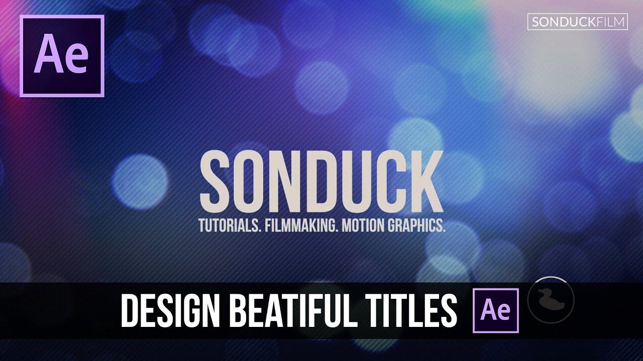 maxresdefault 20 8 - 设计漂亮的动作标题After Effects Tutorial Design Beautiful Motion Titles