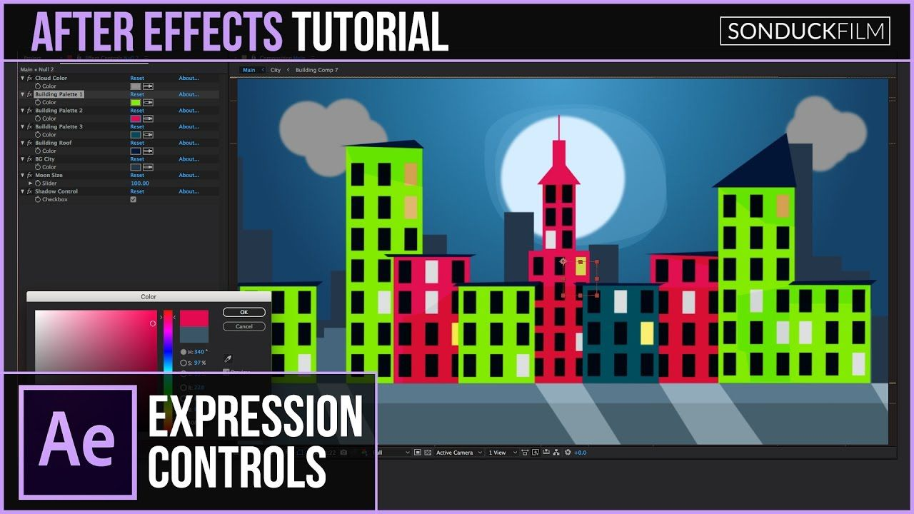 maxresdefault 21 7 - 跨组件的表达式控件(颜色参数)After Effects Tutorial Expression Controls Across COMPS (Color  Parameters)