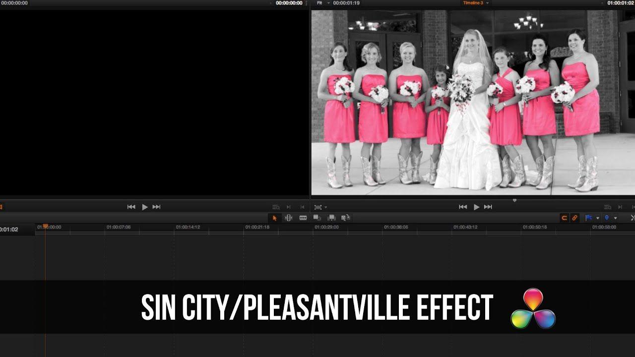 maxresdefault 25 3 - 达芬奇教程Sin City  Pleasantville Effect  DaVinci Resolve Tutorial