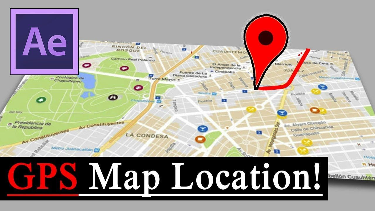 maxresdefault 3 1 - 地图位置-GPS后效果教程(无插件)MAP LOCATION - GPS  After Effects Tutorial  (No Plugins)