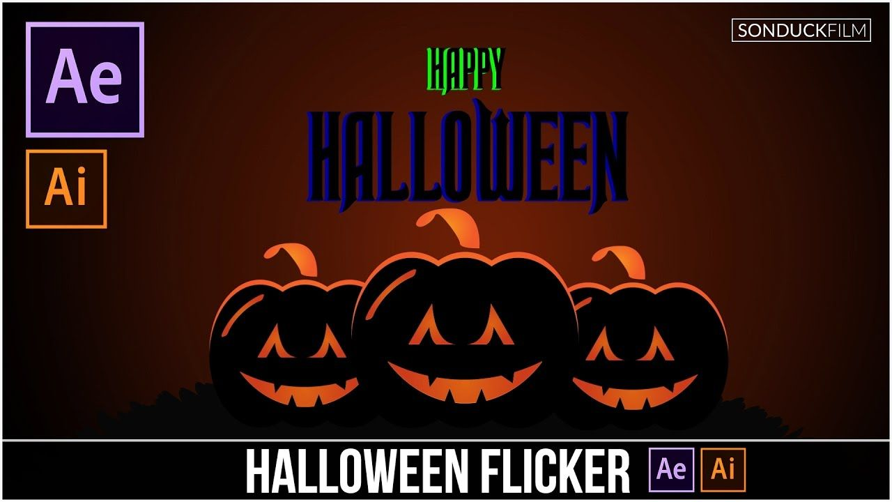 maxresdefault 3 7 - 万圣节南瓜闪烁图案Halloween Pumpkin Flicker Graphics After Effects  Illustrator Tutorial
