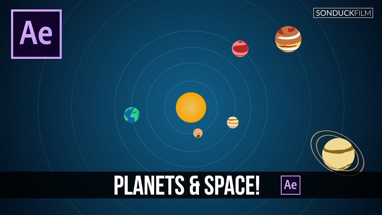 maxresdefault 3 8 - 二维行星太阳系After Effects Tutorial 2D Planets  Solar System Motion Graphics
