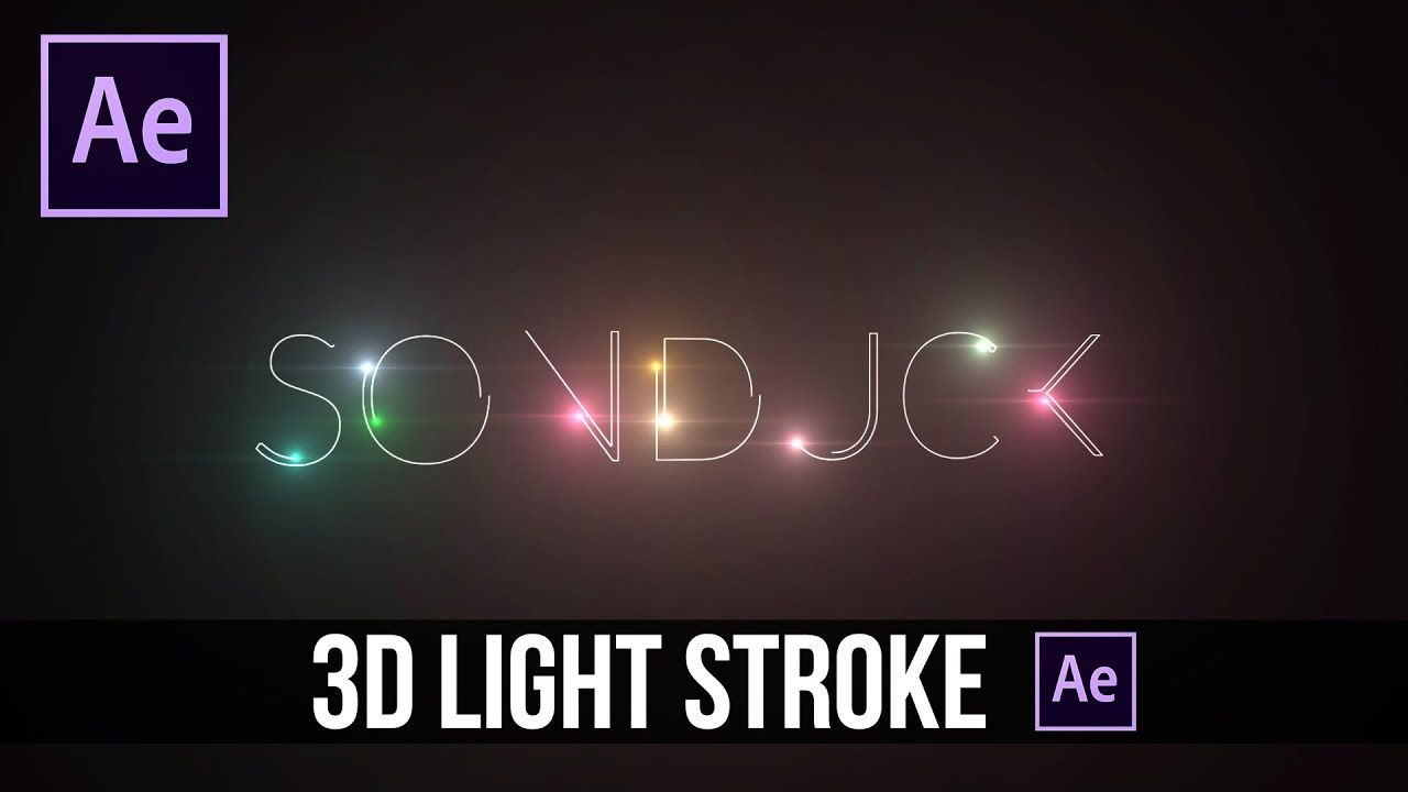 maxresdefault 4 8 - 三维浅文本笔划效果After Effects Tutorial 3D Light Text Stroke Effect