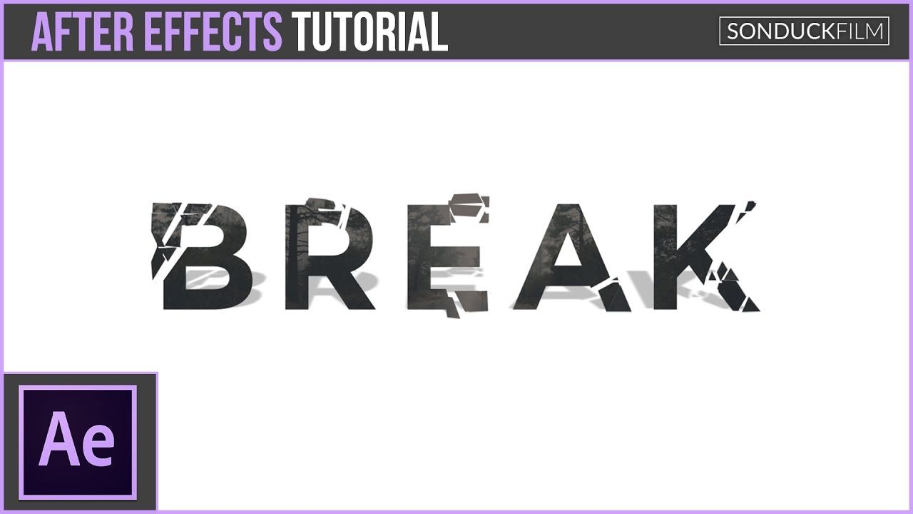 maxresdefault 5 10 - 分解文本-破碎After Effects Tutorial Break Up Text - Shatter Motion Graphics