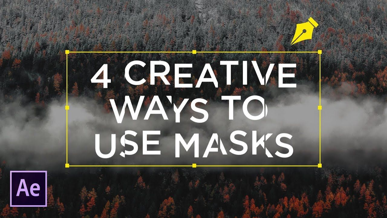 maxresdefault 5 5 - 4个创造性的方法使用蒙板的文本后效果教程4 Creative Ways To Use Masks For Text  After Effects Tutorial
