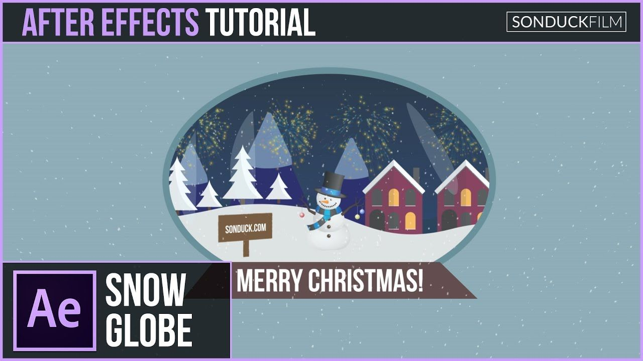 maxresdefault 5 9 - 二维雪球-圣诞节 After Effects Tutorial 2D SNOW GLOBE - Christmas Motion Graphics